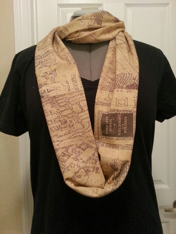 Marauder's Map Infinity KNIT Scarf from Nerd Alert Creations