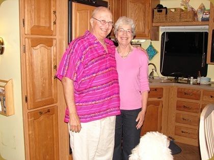 Doug & JoAnn in their Home