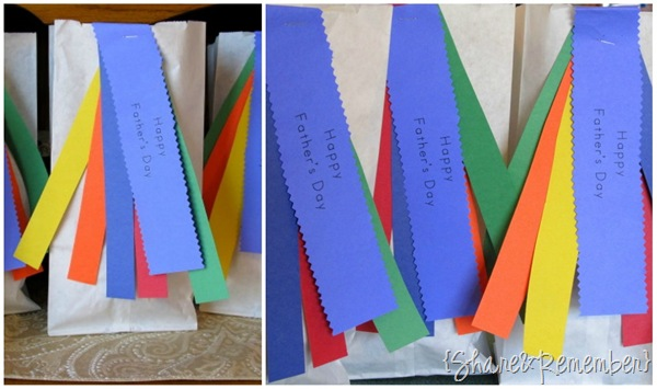 Father's Day rainbow gift bags