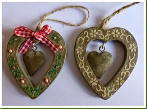 Christmas Heart Tree Decorations