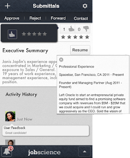 Jobscience Mobile Manager - screenshot