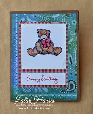 card jubilee teddybear birthday