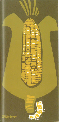 The corn is so gold in this print. Corn on Color 6X12 Silkscreen print circa 1972.