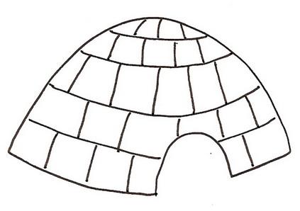 Dibujo para colorear de una iglu  Imagui