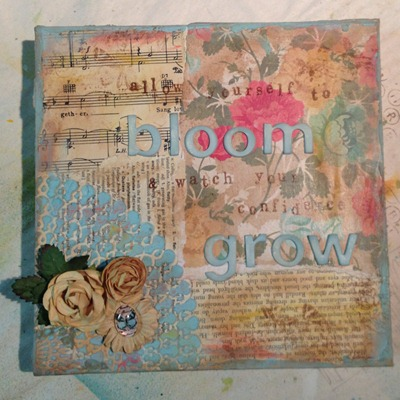Bloom canvas by Melita Bloomer