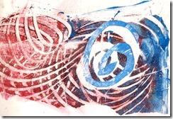 c11 stencil and monoprint