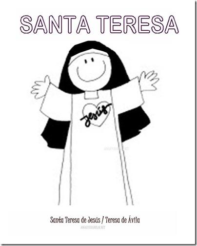 SANTA TERESA COLOREAR 1