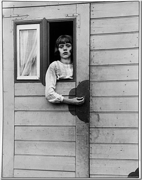 Girl in Fairground Caravan, 1926