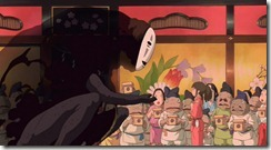 Spirited Away No-Face and Chihiro