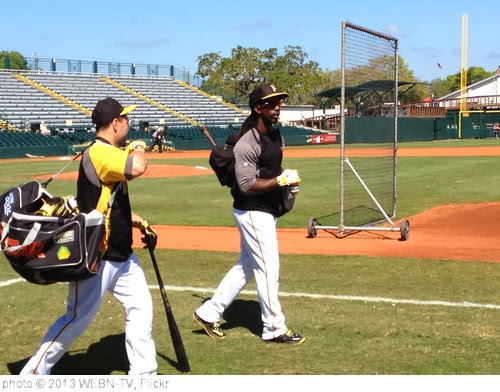 '@WEBNtvSATCH: Andrew McCutchen before playing the Spanish national team and on the day he graces the cover of MLB13 on PlayStation' photo (c) 2013, WEBN-TV - license: http://creativecommons.org/licenses/by-nd/2.0/