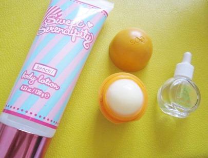 sweet serendipity, eos tangerine, etude house quick dry drop, bitsandtreats