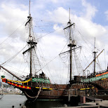 VOC ship at huis ten bosch in Sasebo, Nagasaki, Japan