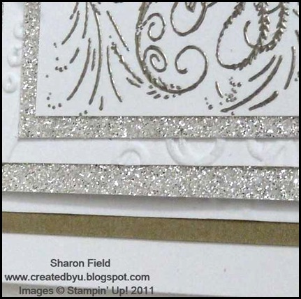 comfort_and_joy, pewter_embossing, Holiday_mini, catalog, glimmer_paper, new product, online ordering, ribbon, taffeta, brushed gold, sharon_field, Createdbyu_blogspot, sketch_challenge, stampin_queens