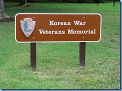 1396 Washington, DC - Korean War Veterans Memorial sign