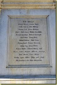 Black Hole memorial plaque