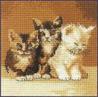 Описание: Схема для вышивки крестом - Котики в формате xsd. животные.  Поделиться. бесплатно. схема.