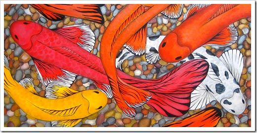 fish human painting