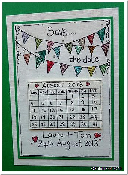 Wedding Save The Date Calendar