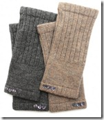 Cashmere Fingerless Gloves in Charcoal and Taupe - £38