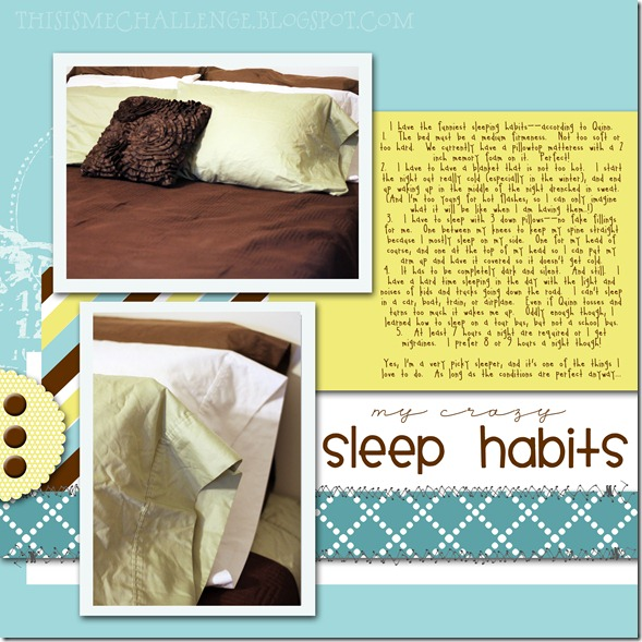 sleep habits timc