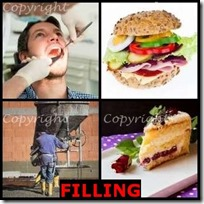 FILLING- 4 Pics 1 Word Answers 3 Letters