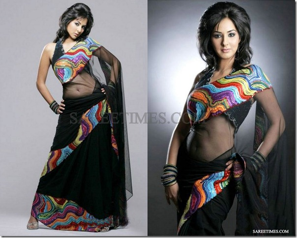 Sakshi_Gulati_Black_Saree
