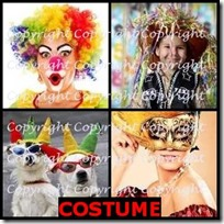 COSTUME- 4 Pics 1 Word Answers 3 Letters
