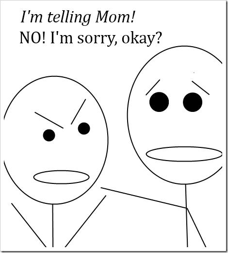 telling mom