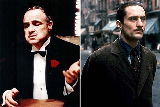 """Der amerikanische Filmschauspieler Marlon Brando in der Rolle des Familienoberhauptes Don Vito Corleone in dem Coppola-Film """"Der Pate"""" von 1972. Marlon Brando ist tot. Der zweifache Oscar- Preistr‰ger starb nach Best‰tigung seines Anwaltes am 02.07.2004 in Los Angeles. Er wurde 80 Jahre alt."""