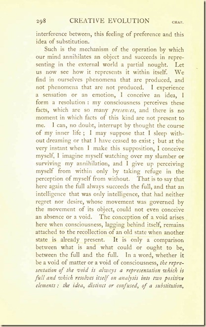 Bergson. Creative Evolution. 1911 creativeevolutio00berguof.test.t_Page_312