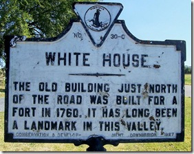 White House marker C-30 in Page County, VA