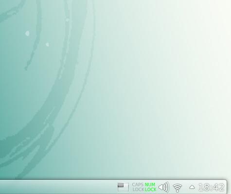 KeyLeds Plasmoid sul pannello  di KDE