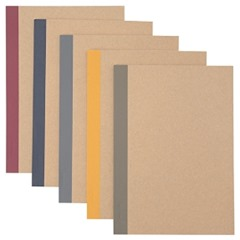 Five notebooks. Image links to Muji website.