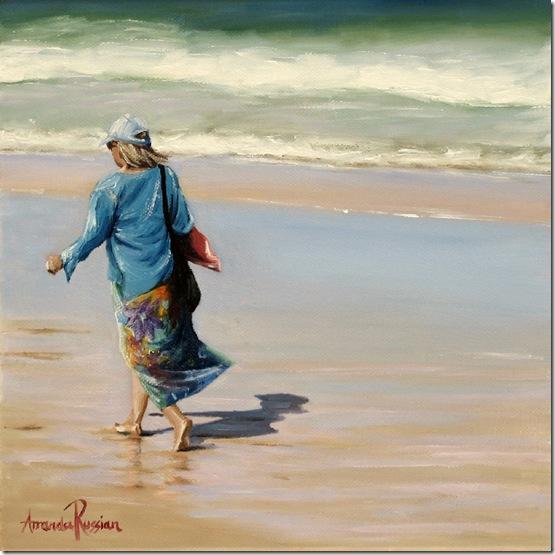 beach walk - 25x25cm - 2012