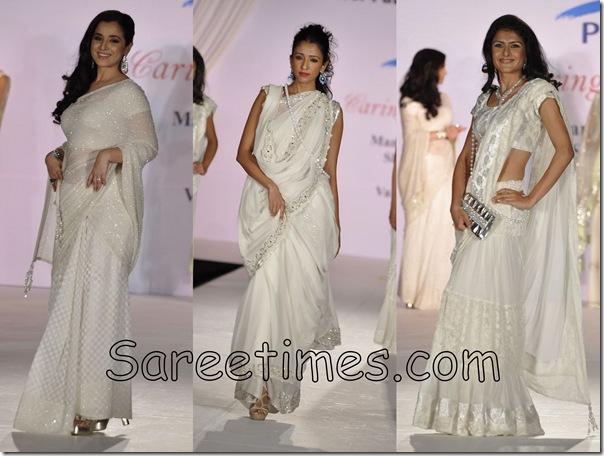 White_Saree_CPAA_Fashion_Show