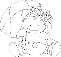 Baby%252520and%252520Umbrella1 Dibujos para calcar o colorear bebes