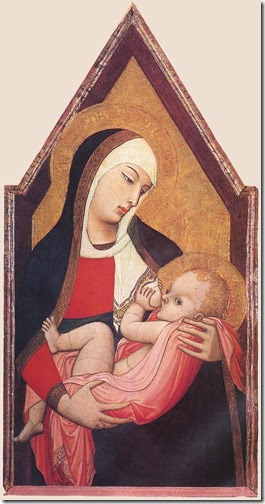 Madonna del Latte  - Ambrogio Lorenzetti - 1330