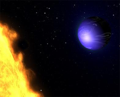 ilustração do planeta azul HD 189733b