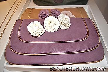H&M Clutch purse bag roses