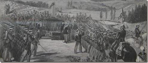 Desfile en la inauguración del Monumento al General Concha
