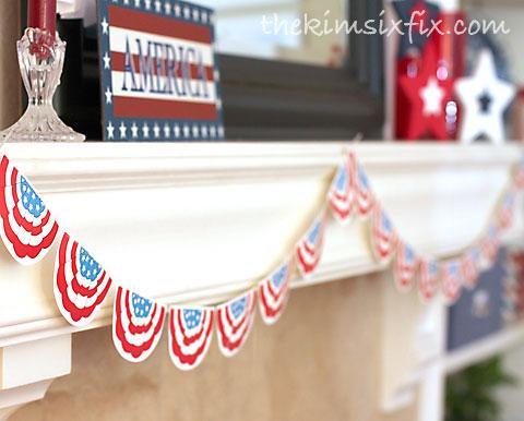 American flag swag garland