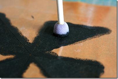 3 using dry paint, paint
