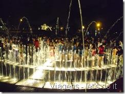 Fonte luminosa interativa do Circuito Mágico del Água - Lima, Peru