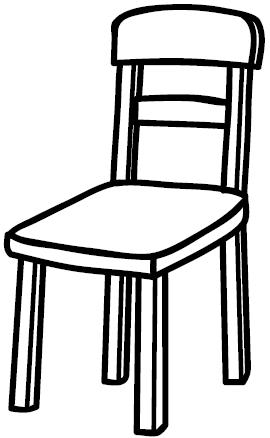 Coloring pages » CHAIR COLORING PAGES