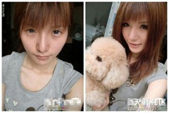 chinese girls makeup before and after  (19)