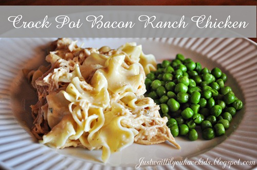 Crock Pot Bacon Ranch Chicken