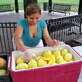 Mango slices, just $2.50 per bag. Served with salt and pepper.