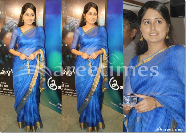 Haritha_Blue_Saree