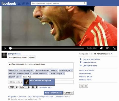 Cómo etiquetar a un amigo en un video de Facebook
