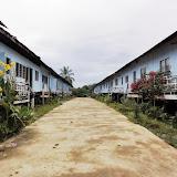 写真5: カクス川にあるプゥナンのロングハウス  / Photo5: The longhouse of Punan community at Kakus River